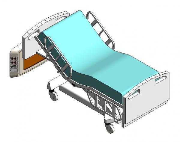 Hasta Karyolası 2 Motorlu